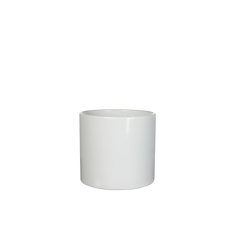 Pot rond Era blanc - ø13,5cm H12,5cm