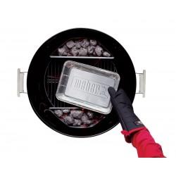 10 barquettes en aluminium Weber pour barbecues à charbon