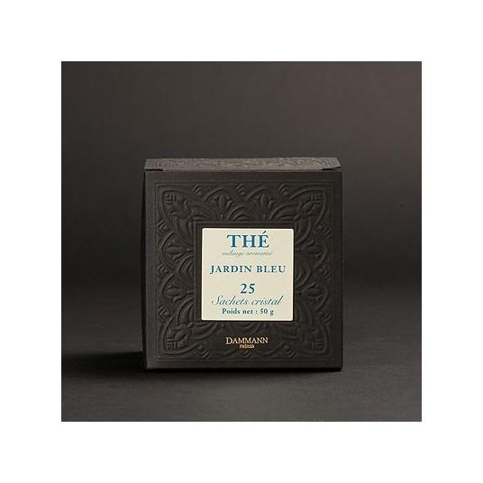 "Thé Dammann ""Jardin Bleu"" - Boîte de 25 sachets Cristal"