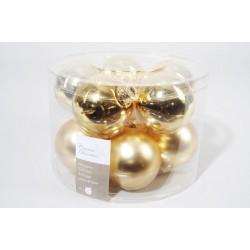 Boules de Noël dorées ø6cm - X10