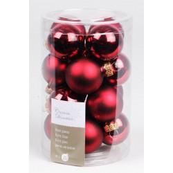 Boules de Noël bordeaux ø3,5cm - X16