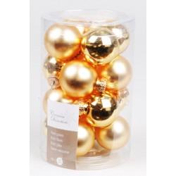 Boules de Noël dorées ø3,5cm - X16