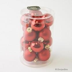 Boules de Noël rouges ø3,5cm - X16