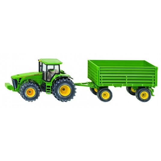 Tracteur John Deere + remorque Siku - 1:50