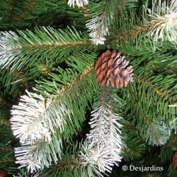 "Sapin artificiel ""Empress Spruce Frosted with cones"" - 155cm"