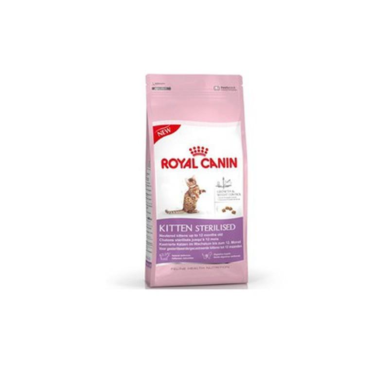"""Croquettes pour chaton stérilisé """"Kitten Sterilised""""- Royal Canin - 2kg"""