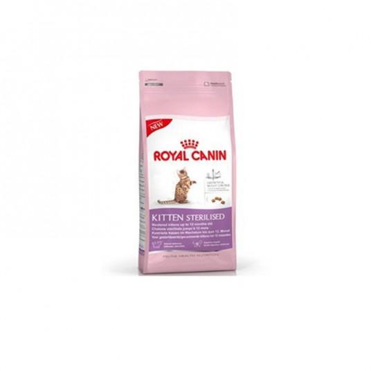"""Croquettes pour chaton stérilisé """"Kitten Sterilised""""- Royal Canin - 2kg + sachet fraîcheur 85g offert"""