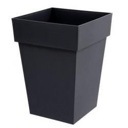 Pot Toscane carré 39x39x53cm - Gris anthracite