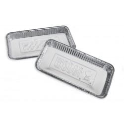 10 barquettes en aluminium Weber - Pour barbecue à charbon 57cm