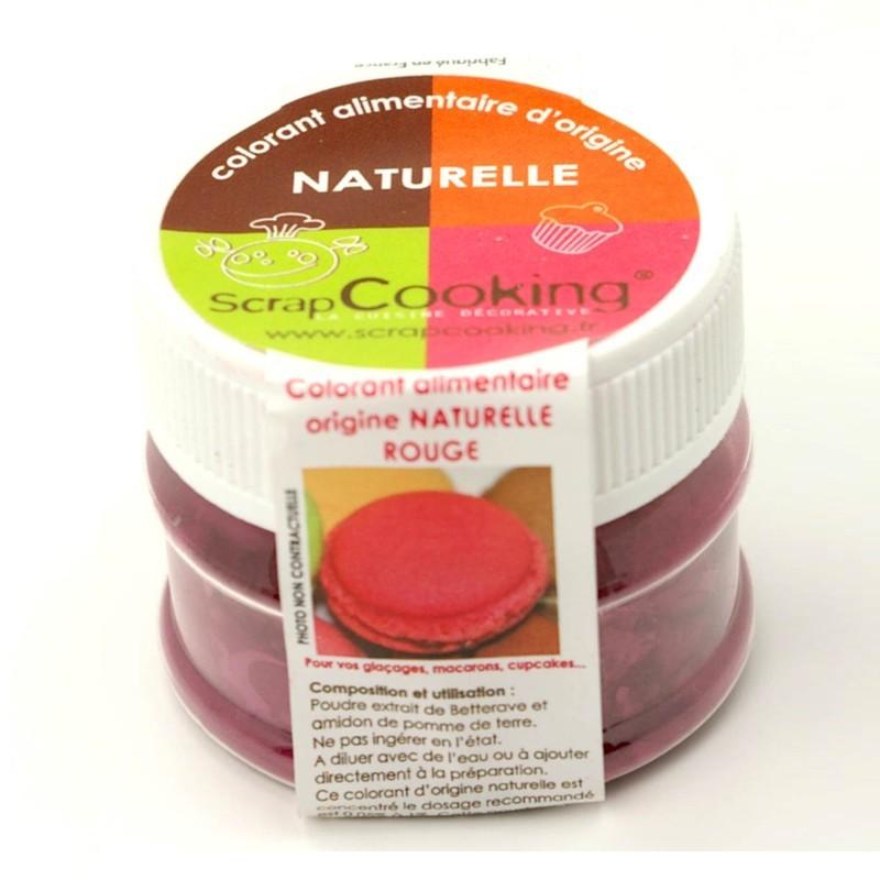 colorant alimentaire naturel scrapcooking rouge. Black Bedroom Furniture Sets. Home Design Ideas