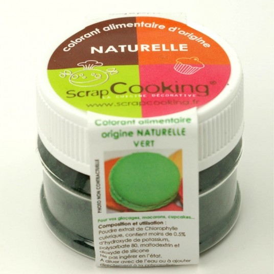 colorant alimentaire naturel scrapcooking vert. Black Bedroom Furniture Sets. Home Design Ideas