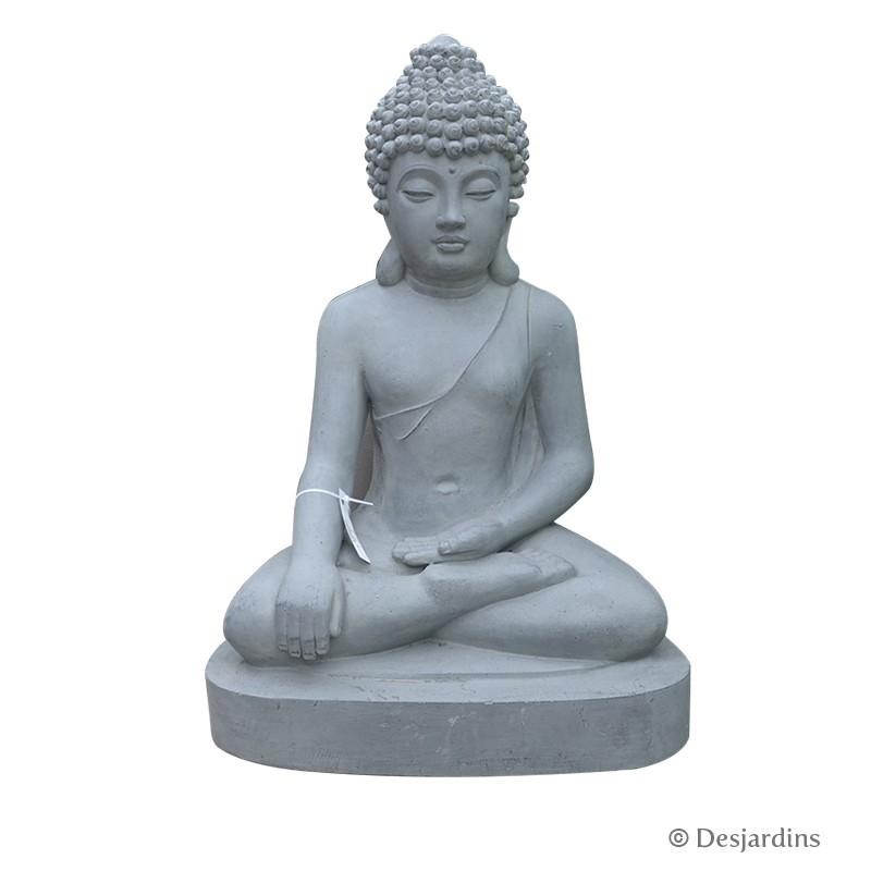 statue de bouddha assis 60 cm desjardins. Black Bedroom Furniture Sets. Home Design Ideas