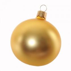 Boule de Noël uni mat or...