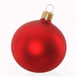 Boule de Noël uni mat rouge...
