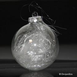 Boule de Noël transparente...