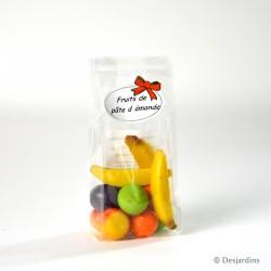 Pâte d'amande aux fruits doux - 100g