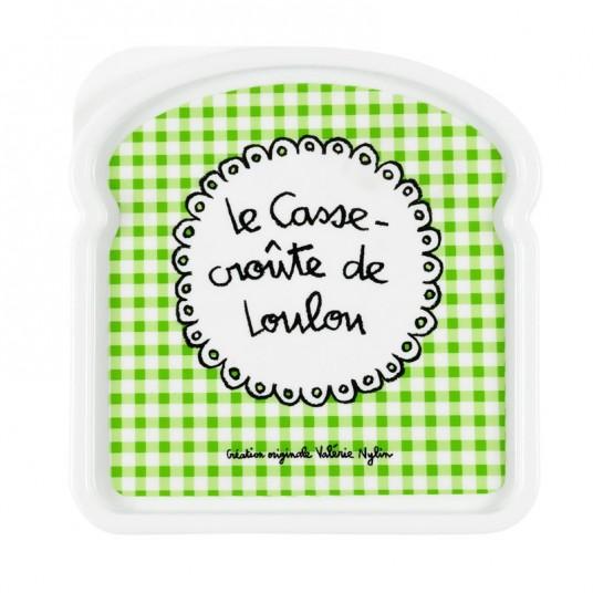 """Boîte à sandwich """"Loulou"""" - DLP - vert"""