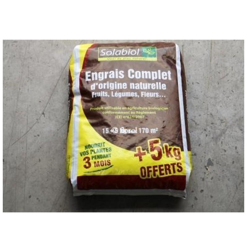 Engrais organique complet 15kg 5kg gratuit for Engrais 3 fois 15