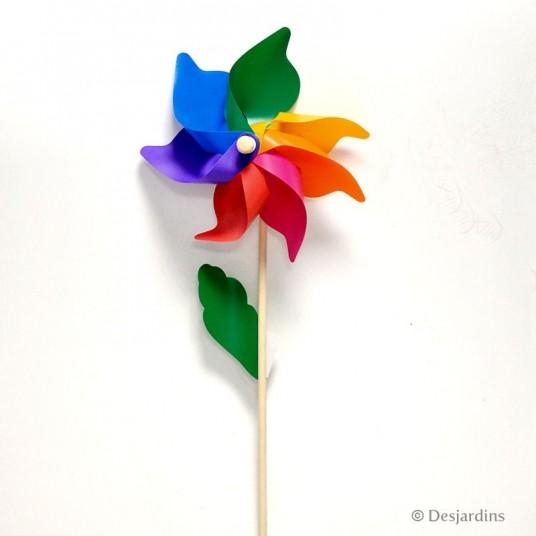Moulin à vent multicolore - DESJARDINS