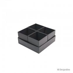 Ensemble 4 pots carrés -...