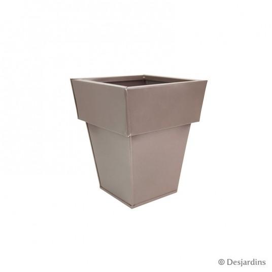 Cache-pot carré haut - 25x25x30 cm - DESJARDINS