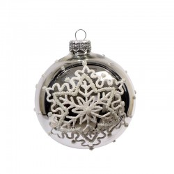 Boule décorative flocon de...