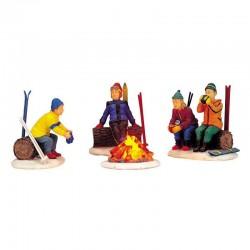 """Scène """"Skiers' Camp Fire"""" -..."""