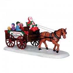 Scène 'Santa's Wagon Ride'...