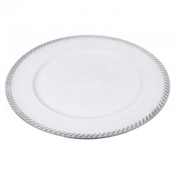 Assiette décorative blanche...