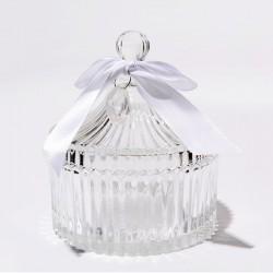 Bonbonnière en verre - 15x15cm