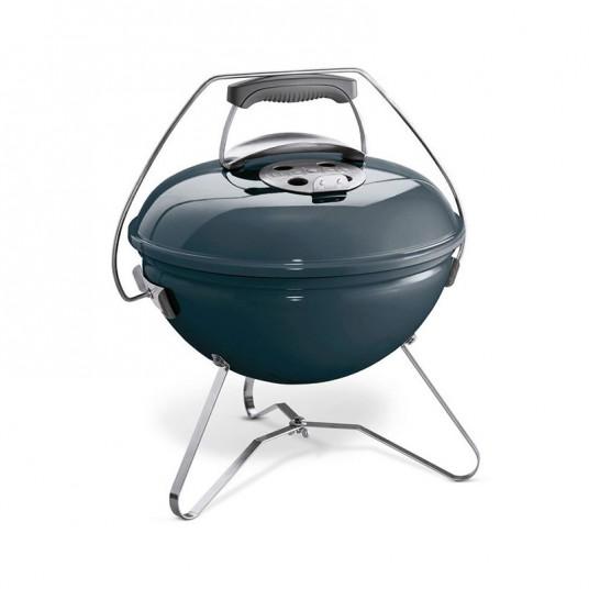 "Barbecue charbon ""Smokey Joe Premium"" 37cm bleu ardoise - WEBER"