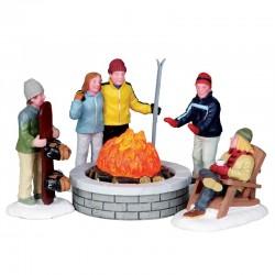 """Scène """"Fire Pit""""- LEMAX"""