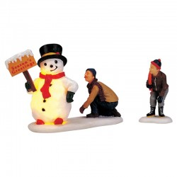 Figurines Frosty's Friendly Greeting X2 de la marque Lemax