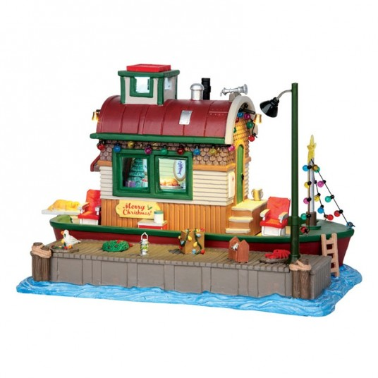 "Scène ""Houseboat Celebration"" - LEMAX"