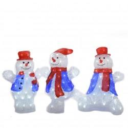 Set de 3 bonhommes de neige...