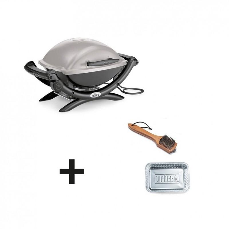 barbecue lectrique weber q1400 gris accessoires. Black Bedroom Furniture Sets. Home Design Ideas