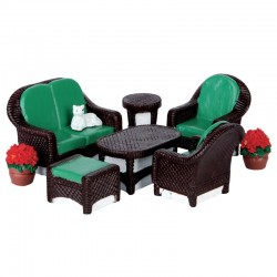 "Décor ""Wicker Lawn Set"" X8..."
