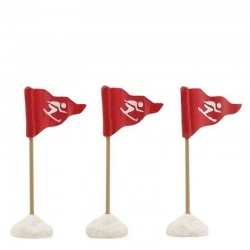 "Figurines ""Ski Flags Red""..."