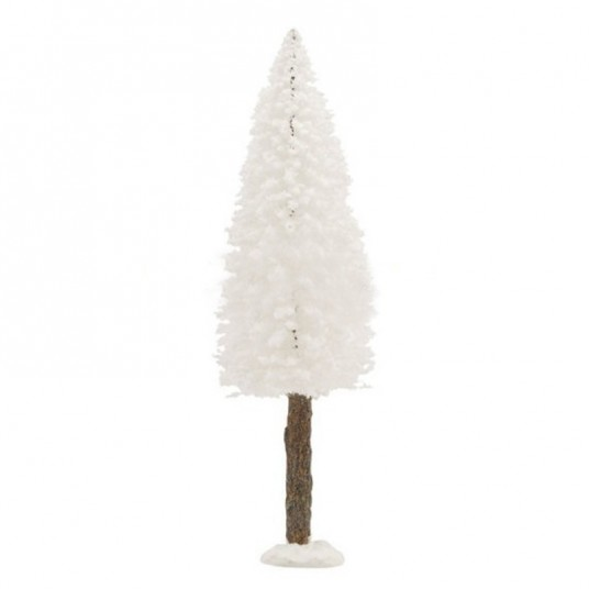 "Arbre ""Bristle Tree on Log White"" - 20 cm - LUVILLE"