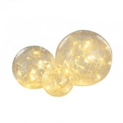 Boules en verre lumineuses...