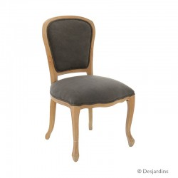 Chaise baroque gris -...