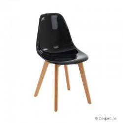 """Chaise scandinave """"noire..."""