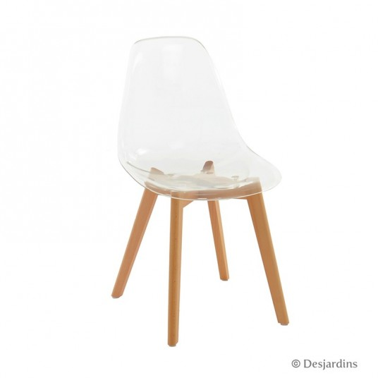 chaise scandinave transparente desjardins - Chaises Scandinaves Transparentes