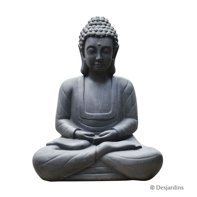 statue de bouddha assis moyen mod le desjardins. Black Bedroom Furniture Sets. Home Design Ideas