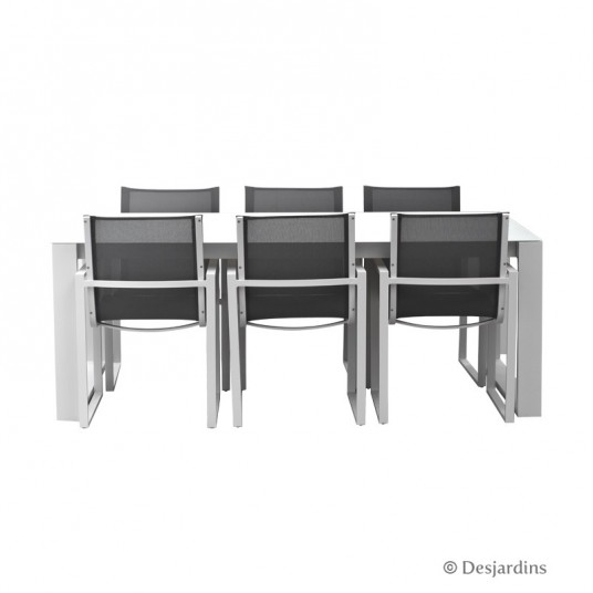 "Ensemble ""Casablanca"" 1 table + 6 fauteuils - DESJARDINS"
