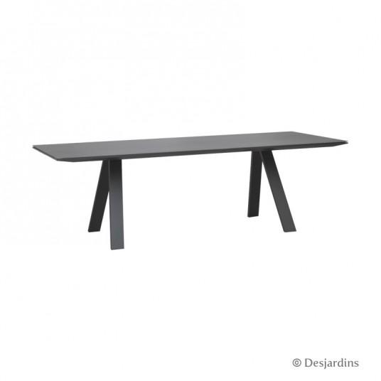 "Table ""Liverpool"" 240 x 100 cm - Gris anthracite - DESJARDINS"