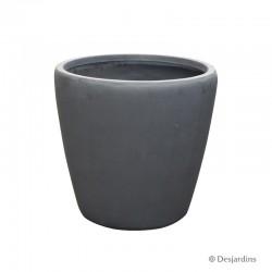 Pot rond en fibre gris...