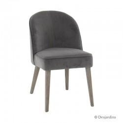 Chaise basse - gris -...