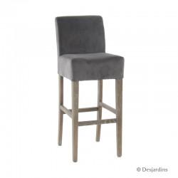 Chaise de bar - gris -...