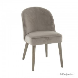 Chaise basse - taupe -...